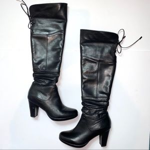 Blondo Providence Over the Knee Black Heeled Boots